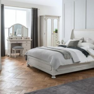 Set Kamar Tidur Duco Putih Bagong Kaki Lurus