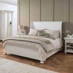 Tempat Tidur Duco Putih Bagong Kaki Lurus
