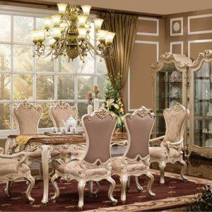 Set Meja Makan Luxury Luis Victorian