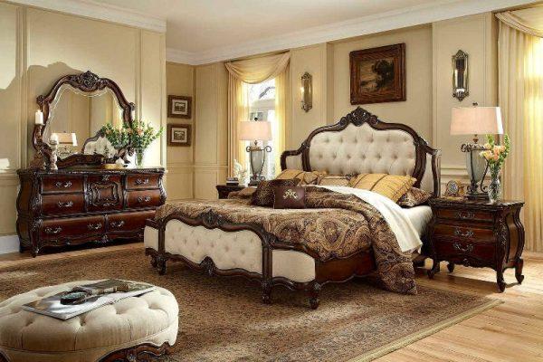Tempat Tidur Klasik Lavender Fabric