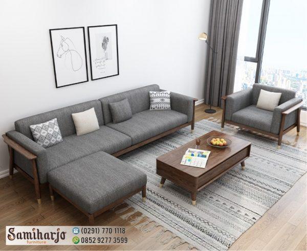 Kursi Kayu Santai Ruang Keluarga Sentoria 1 Set
