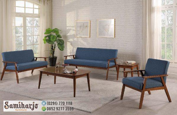 Sofa Kayu Minimalis Atlantik - Kursi Jati Modern