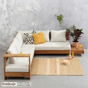 Sofa Santai Keluarga Belmonte - Sofa Keluarga Minimalis Natural Kayu